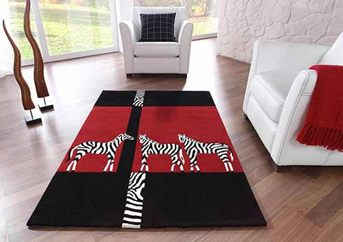 Designerteppich Kalahari - Zebras