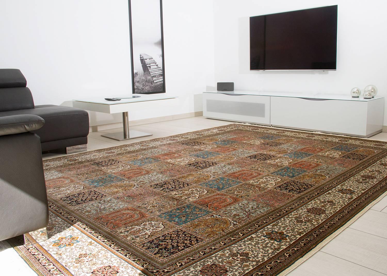 Orientteppich Kaschmir Seide Royal Felder