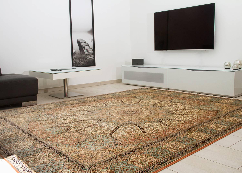 Orientteppich Kaschmir Seide Medaillon