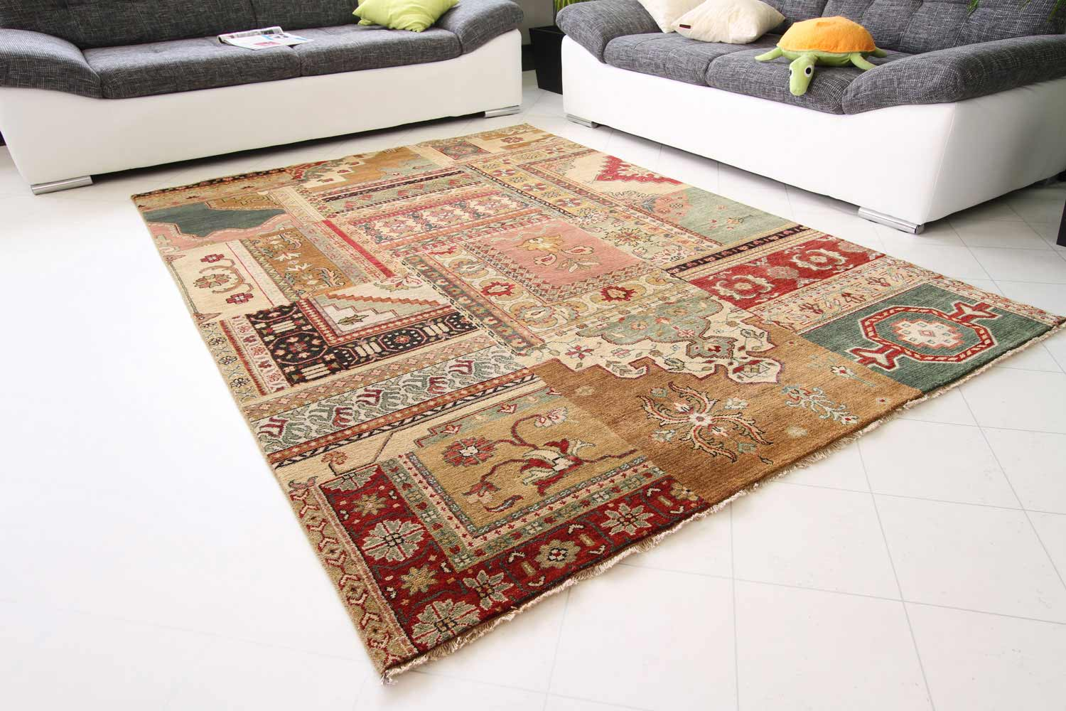 Perserteppich patchwork  Orientteppich Elisabeth - Sarough Medaillon | global-carpet